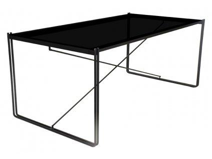 Černý kovový jídelní stůl RGE Line