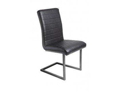 Černá čalouněná jídelní židle RGE Toscana