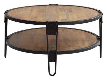 Hnědý dřevěný konferenční stolek RGE Bangalor