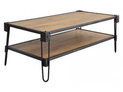 Hnědý dřevěný konferenční stolek RGE Bangalor 120 cm