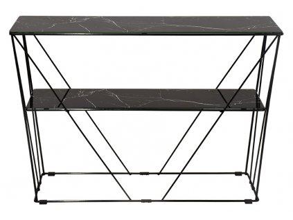Černý skleněný odkládací stolek RGE Cube