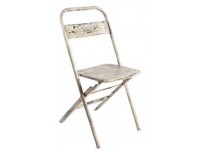 Krémová kovová vintage židle RGE Mash
