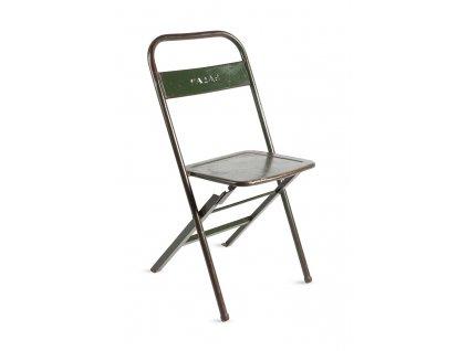 Zelená kovová vintage židle RGE Mash