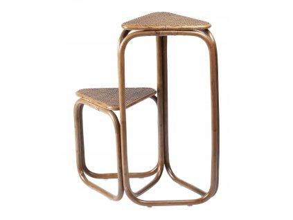 Přírodní ratanový odkládací stolek RGE Champel