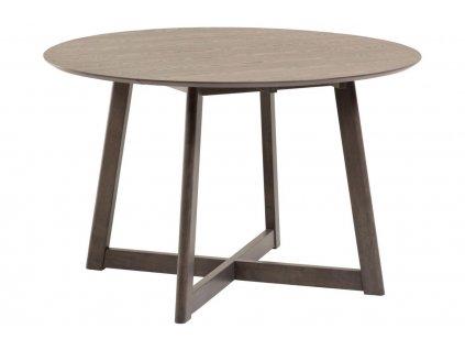 Přírodní kulatý jasanový rozkládací jídelní stůl LaForma Maryse 70-120 cm