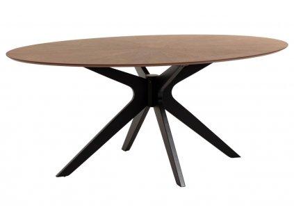 Dřevěný ořechový jídelní stůl LaForma Naanim 180 x 110 cm