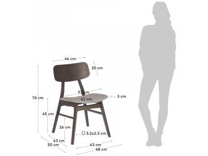 Šedá dřevěná jídelní židle LaForma Selia