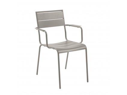 Šedá kovová zahradní židle LaForma Allegian