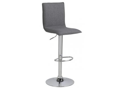 Šedá čalouněná barová židle Alena