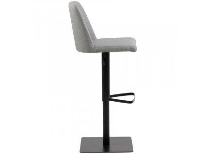 Šedá látková barová židle Avanda