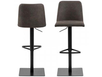 Tmavě šedá látková barová židle Avanda