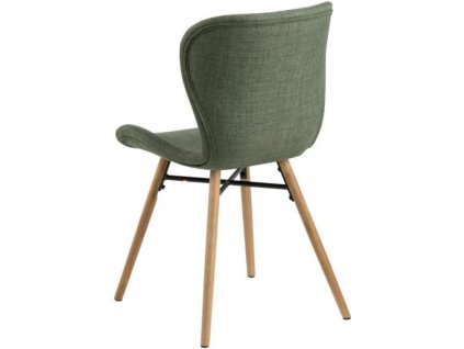 Brčálově zelená látková jídelní židle Matylda