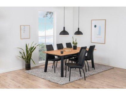 Černá čalouněná jídelní židle Oliver