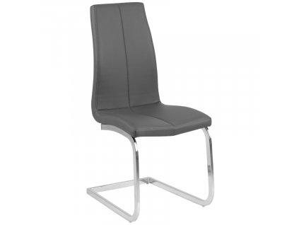 Šedá čalouněná jídelní židle Asamo