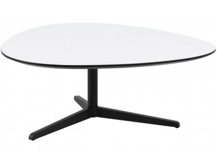 Bílý dřevěný konferenční stolek Barnsby 103 x 95 cm