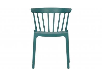 Oceánově modrá plastová jídelní židle Marbel