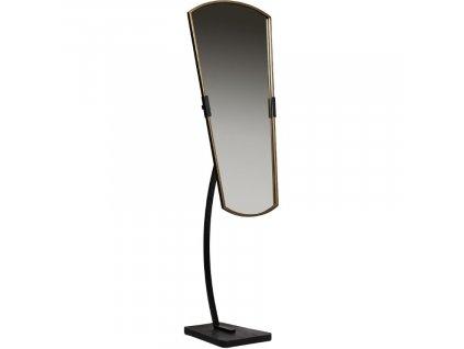 Černé kovové stojací zrcadlo June 166 cm
