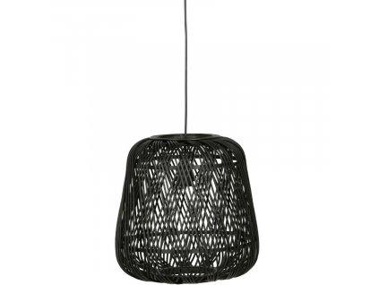 Černé bambusové závěsné svítidlo Bamboo 36 cm848x848