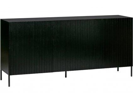Černá borovicová komoda Gravia 180 x 46 cm