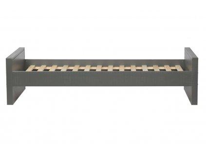 Šedá dřevěná postel Neville 90x200 cm