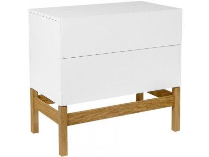 Bílý barový stolek Woodman Grande s dubovou podnoží 75x40 cm848x848 (4)