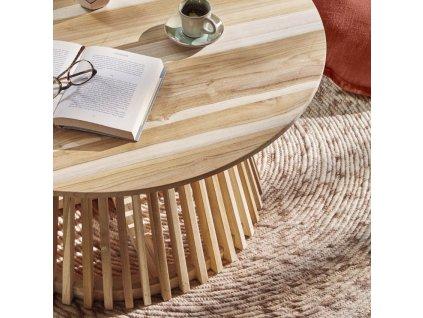Masivní konferenční stolek LaForma Irune 80 cm
