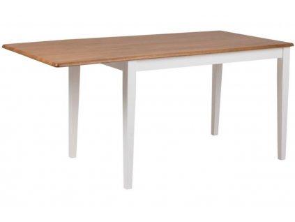 Bílý dřevěný rozkládací jídelní stůl Firsbe