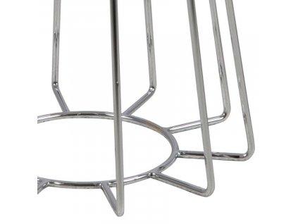 Bronzový odkládací stolek Goldy 40 cm s chromovou podnoží