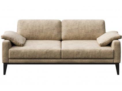 Béžová dvoumístná koženková pohovka MESONICA Musso 173 cm