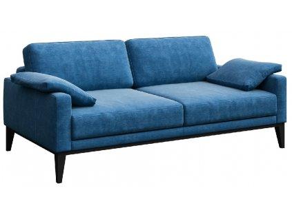 Světle modrá dvoumístná látková pohovka MESONICA Musso 173 cm