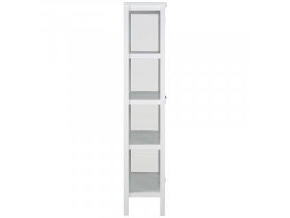 Bílá dřevěná vitrína Marion 180 cm