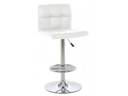 Bílá čalouněná barová židle Hura