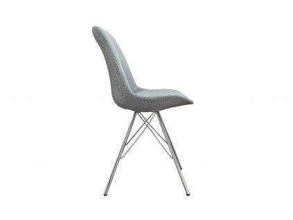 Šedá čalouněná jídelní židle Ambro