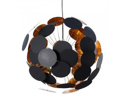 Černé kovové závěsné světlo Brock 70 cm