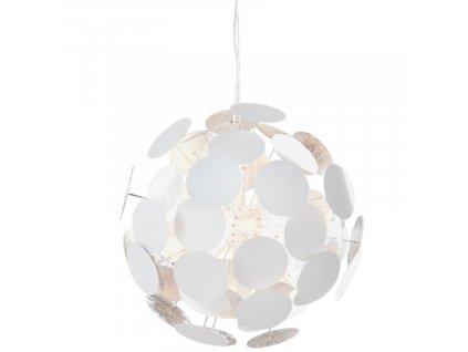 Bílé kovové závěsné světlo Brock 70 cm