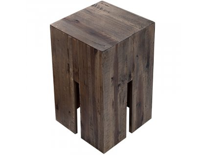 Vintage šedá masivní akátová stolička Coudy 30 cm