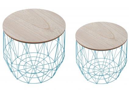 Set dvou modrých konferenčních stolků Ruby