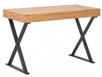 Dřevěný pracovní stůl Goff 100 cm s kovovou podnoží