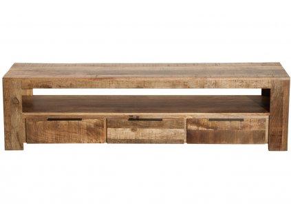 Masivní mangový TV stolek Fabio 170 x 45 cm