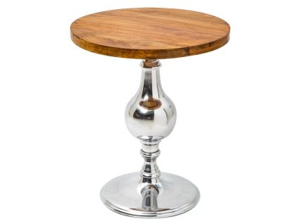 Dřevěný odkládací stolek Calderon 51 cm s chromovanou podnoží