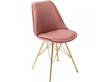 Růžová sametová jídelní židle Alara848x848 (1)