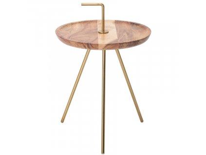 Akátový odkládací stolek Chavez 36 cm