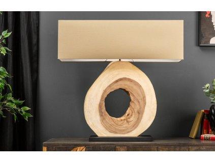 Bílá stolní lampa Iret