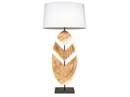 Bílá stolní lampa Fleche