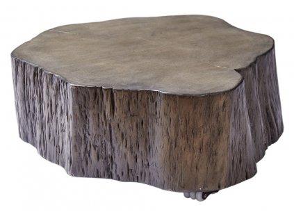 Masivní šedý konferenční stolek Kebo 63-77x63-77cm