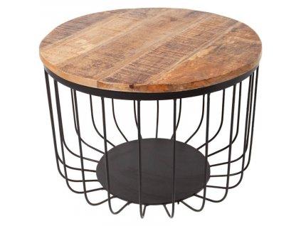 Mangový konferenční stolek Paolo 56 cm