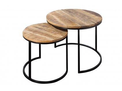 Set dvou odkládacích mangových stolků Riccardo 51/47 cm