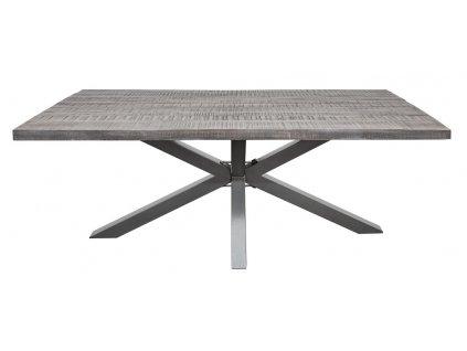 Masivní šedý jídelní stůl Cosmic 200x100cm