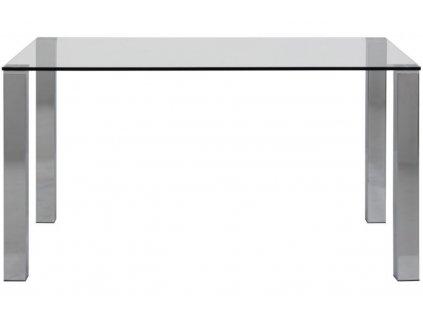 Skleněný jídelní stůl Karla 140 cm