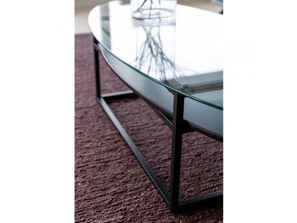 Skleněný oválný konferenční stolek Gavon
